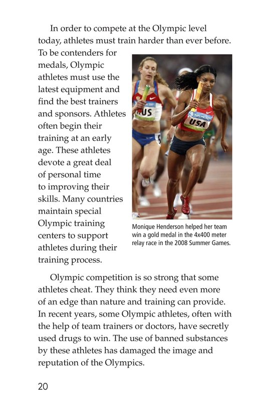 Book Preview For The Olympics: Past and Present Page 20