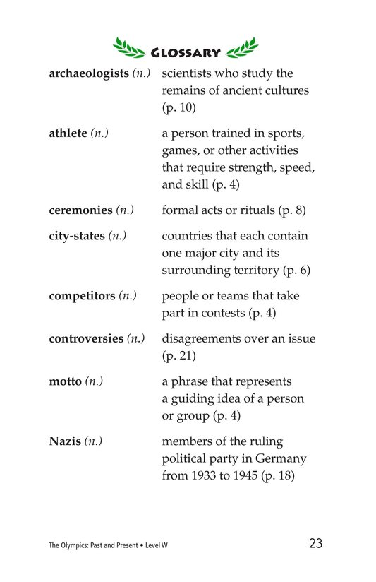 Book Preview For The Olympics: Past and Present Page 23