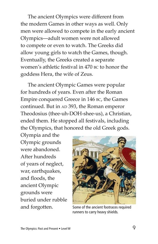 Book Preview For The Olympics: Past and Present Page 9