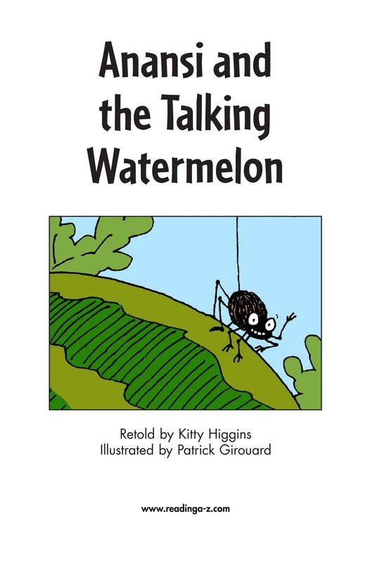 Book Preview For Anansi and the Talking Watermelon Page 2