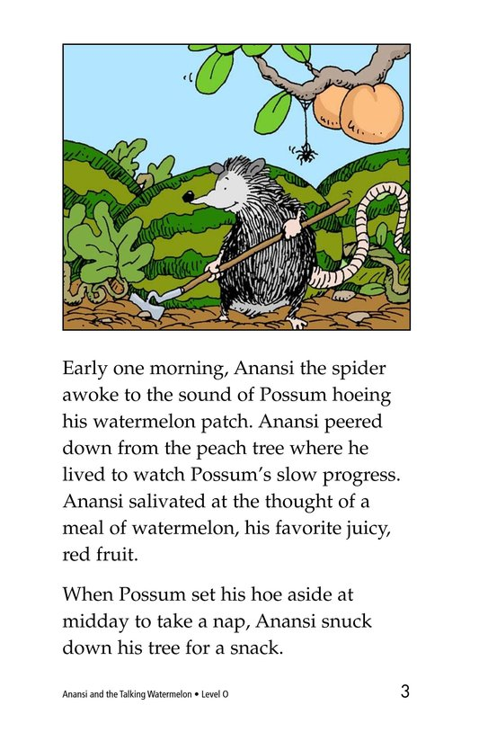 Book Preview For Anansi and the Talking Watermelon Page 3