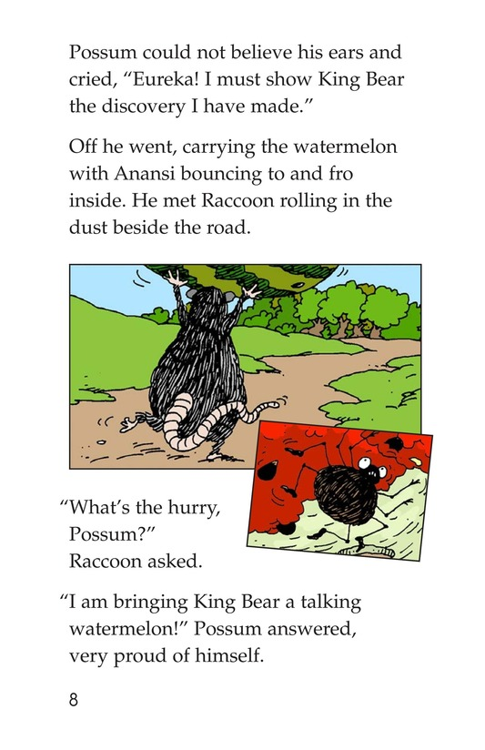 Book Preview For Anansi and the Talking Watermelon Page 8