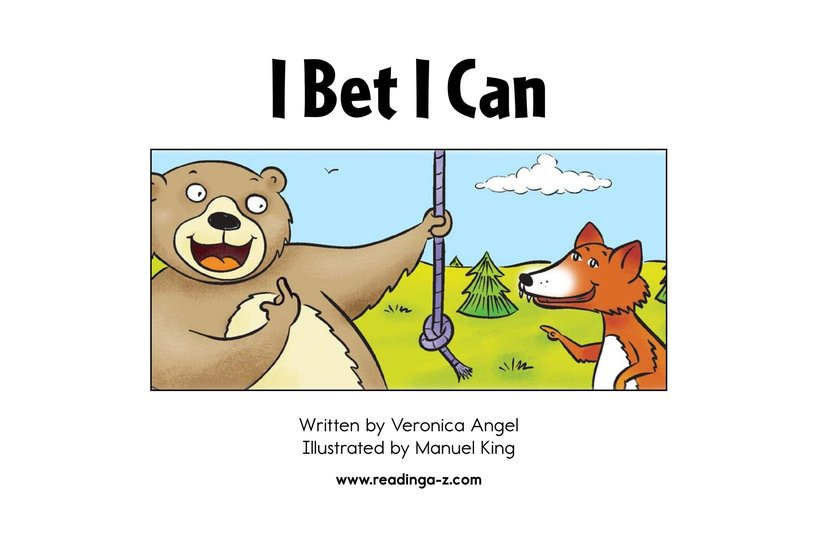 Book Preview For I Bet I Can Page 2