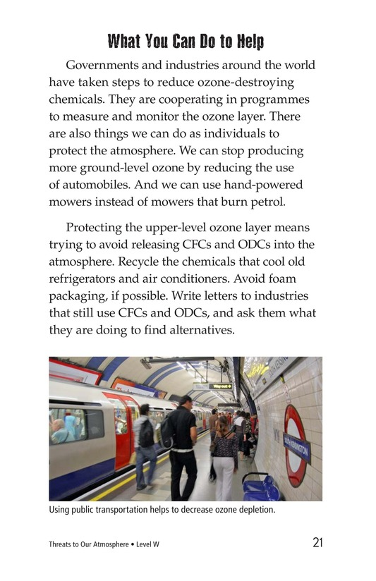 Book Preview For Threats to Our Atmosphere Page 21